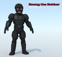 Ronny the Robber rendered 3D model by hauke3000