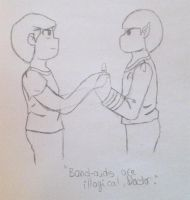 Bones and Spock by purenightshade
