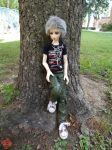 Killua by a Tree 4 by Shuichiboy