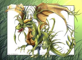 hide-in-the-grass-dragon by CyanBlutgeissel