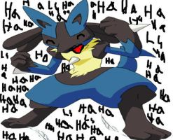 Lucario Tickled by footmaster