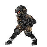 MGS4 Frog Soldier Sprite by sarrus