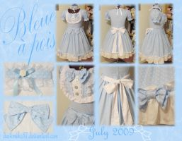 Bleue a pois Lolita Dress by DarkMiko37