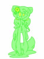 Oc gift LEMON LIME GOO CAT by EmiJoCookie