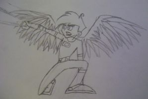 Danny Phantom angel attack by Jocy-007