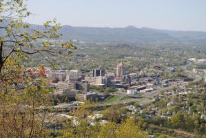 Overview of Downtown Roanoke by xshadow259