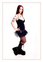 pvc tutu and platform boots by missthorn666