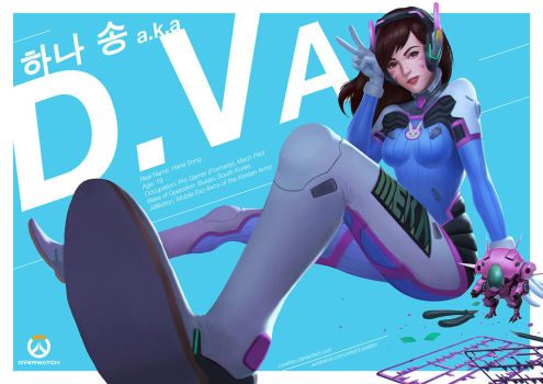 D.Va - Overwatch Fan Art by Levelten