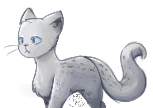 Cat painting by NyanWulf02