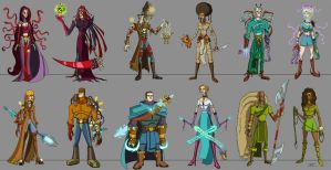 misc characters 2 by ZheSyt