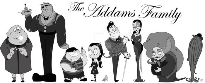 Addams Line Up by smallvillereject
