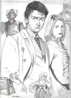 10th Doctor and Rose by rori77