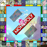 MLP Monopoly Board (WIP finished board art) by Darkblaze95