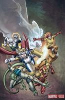 Ultragirl firestar Thor girl by Haseo1970