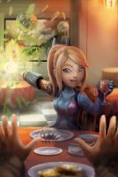 Date with Zero Suit Samus : Smash Date by BryanHeemskerk