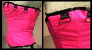 Hot Pink Corset by DustedRose