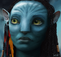 Neytiri's Eyes by spazzy-lil-fishie