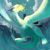 Lugia by DancesWithFoxes