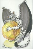 Kitty Has A Balloon by Inflato-Phraggle