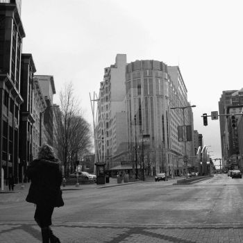Crossing Midday (Euclid Ave., Cleveland) by J-Urban-Hippie