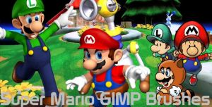 Nintendo Mario GIMP Brush Set by metropolis92