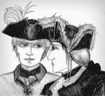 Fritz and Gilbert: black and white hats by ansketil