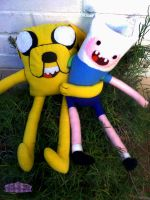 jake the dog and finn the human PLUSH by Dollface-RYJ