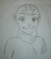 Old Sketch of Aang by SIDNEYG
