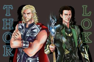 Fanart_Thor_and_Loki by nalintj