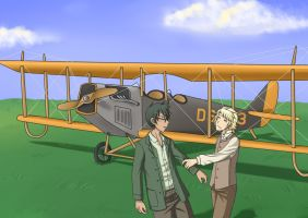 HS - ASC - P-Dirk, Jake and Curtiss Jenny by ChibiEdo