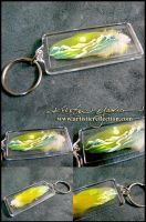 Mini Feather Painting Keychain by dittin03