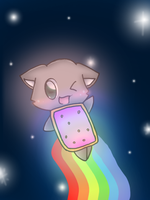 Nyan Cat by JizeruXhikuro