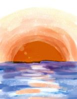 Sunset over the Ocean by hollyluvsarty