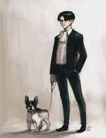 levi in a suit by genicecream
