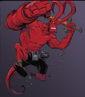 Hellboy Jumping by Stephen-Green