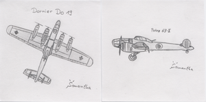 Do 19 and Potez 63 II by InsaneSamantha