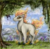 Chibi Ponyta for Draaka by Bezmo