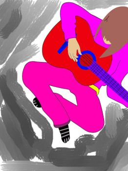 Me play guitar :D by Takii-LoL