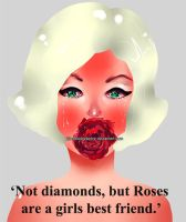 MARILYN LOVES ROSES by BlackBodyElectric