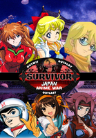 Survivor Anime Wars DVD Cover by shadow0knight