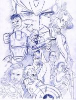 Avengers Assemble pencils by StevenWilcox