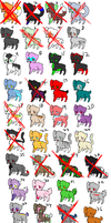 Tons and tons of kitty adopts! MOST ARE 1 POINT!! by Spl00sssh