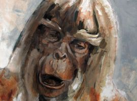 Planet of The Apes oil sketch by hill19652000