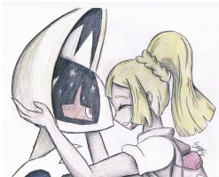 Lillie and Lunala by SageCamille
