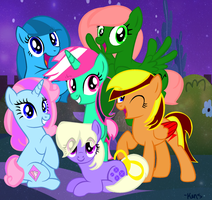 My Mane Six - Friends by xXTuff-PegasisterXx