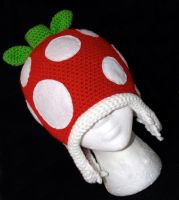 Mario Piranha Plant Beanie with Earflaps by rainbowdreamfactory