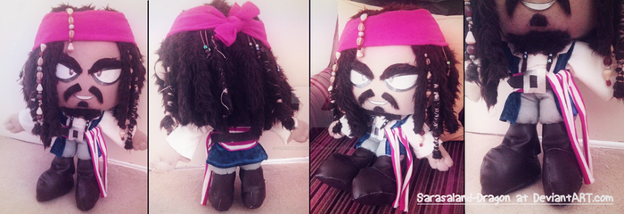 Commission: Jack Sparrow Plush Doll by Sarasaland-Dragon