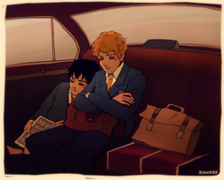 SJA: Quentin and Peony Traveling by student-yuuto