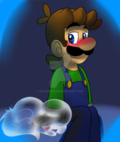 Luigi and puppy by raygirl12