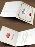 Classic Christmas Greeting Card Template by loswl